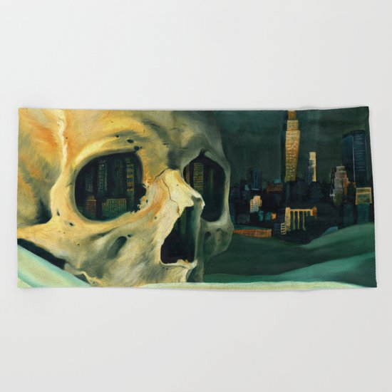 Civilizations Oil Painting Beach Towel