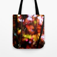 bokeh Tote Bags featuring Bokeh by KitKatDesigns
