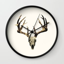 Stag Skull Wall Clock
