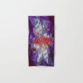 Bright Abstract Flower; Purple, Lavender and Maroon Background; Fluid Abstract 55 Hand & Bath Towel