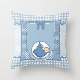Baby Blue Throw Pillow