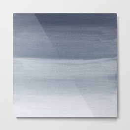Touching Midnight Blue Watercolor Abstract #1 #painting #decor #art #society6 Metal Print