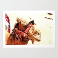 camel Art Prints featuring Camel by leannabanana