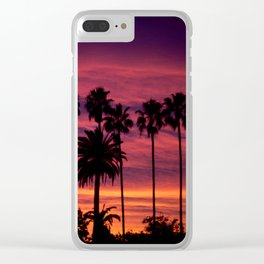 Sunset over Hollywood Clear iPhone Case