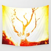 stag Wall Tapestries featuring STAG by Chrisb Marquez
