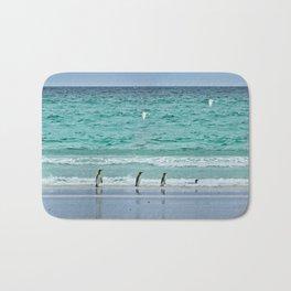 Falkland Island Seascape with Penguins Bath Mat