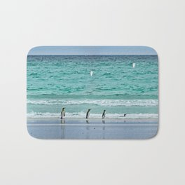 Falkland Island Seascape with Penguins Bath Mat