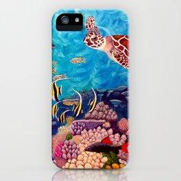 Zach's Seascape - Sea turtles iPhone Case