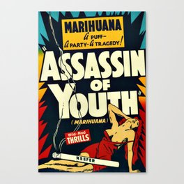 Vintage Assassin of Youth Poster Canvas Print