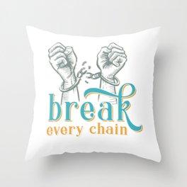 Breaking handcuffs Throw Pillow