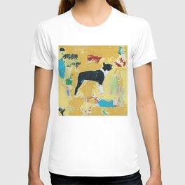 Boston Terrier Painting Art T-shirt