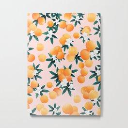 Orange Twist Flower Vibes #7 #tropical #fruit #decor #art #society6 Metal Print