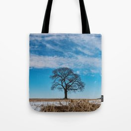 Blue Above Tote Bag