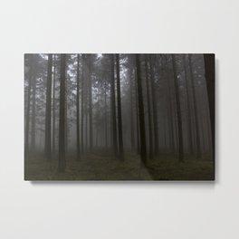Zauberwald - Fog in the Magic Forest 4 Metal Print