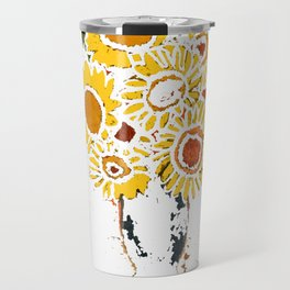 Happy Day in White Travel Mug