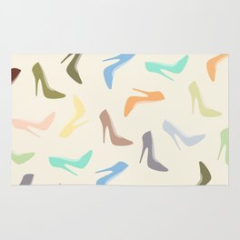 High Heel Shoes Art Rug