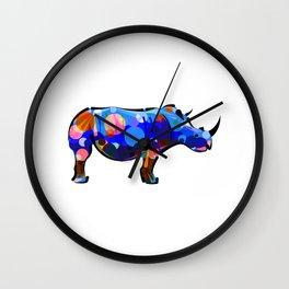 Abstract Rhino Wall Clock