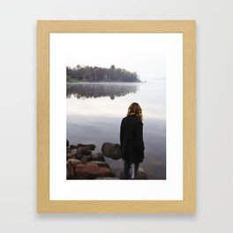 The abyss stares back Framed Art Print