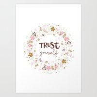 Girly Uplifting Quote – Trust Yourself Art Print