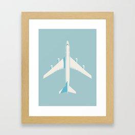 747-400 Jumbo Jet Airliner Aircraft - Sky Framed Art Print