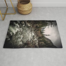 Winter Begins - River Mountain Nature Photography Rug