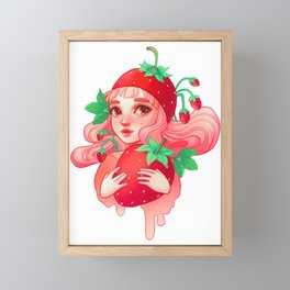 Strawberry Sweetie Framed Mini Art Print