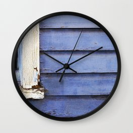 Old Blue Wall Clock