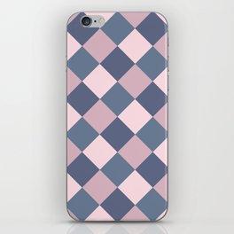 Gray pink Geometric pattern iPhone Skin