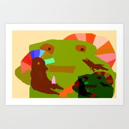 CHILDISH MOMENT Art Print