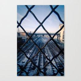 Paris Train Tracks Canvas Print