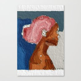 Pink Afro Canvas Print