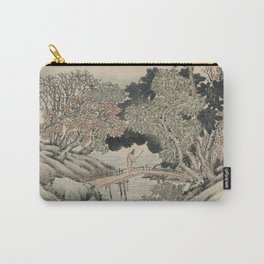 Vintage Japanese Landscape Painting Carry-All Pouch