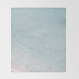 beach - the swimmer Throw Blanket