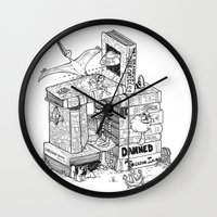 conan Wall Clocks featuring Worlds within Worlds by KadetKat