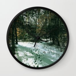 Snow in the Forest Wall Clock