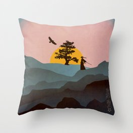 Nature Love Of A Peacful Warrior Throw Pillow