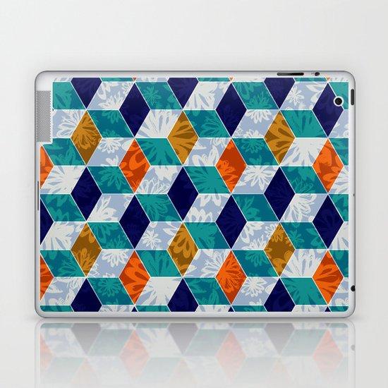 Cube Floral Laptop & iPad Skin