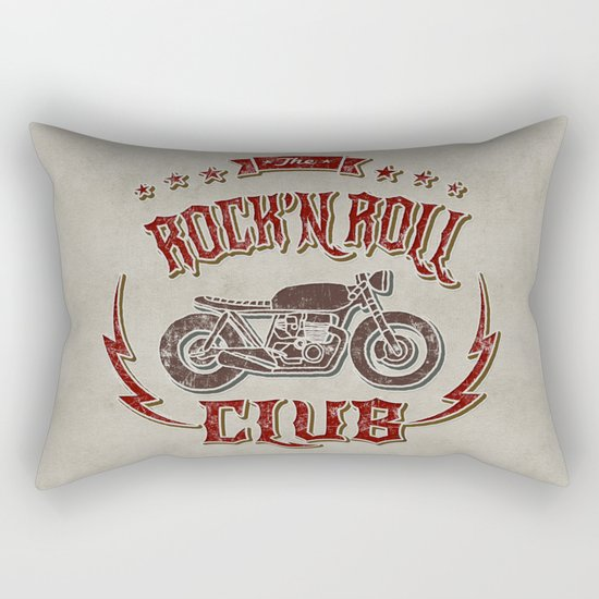 Rock 'n Roll Motorcycle Club Rectangular Pillow