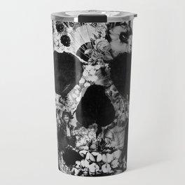 Vintage Skull BW Travel Mug