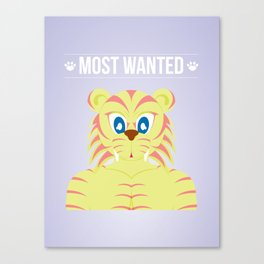 Wanted - Tiger Canvas Print