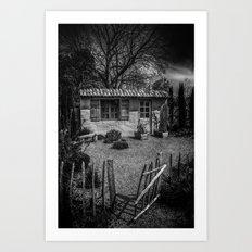 Le Jardin de Vincent Black and White Art Print