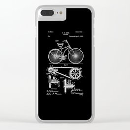 Bicycle Patent Clear iPhone Case