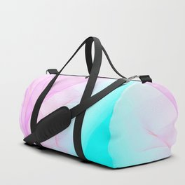 Pastel Motion Vibes - Pink & Turquoise #abstractart #homedecor Duffle Bag