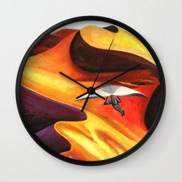 Hang-Glider Oil Painting Wall Clock