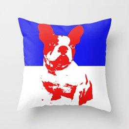 French Bulldog pop art Throw Pillow