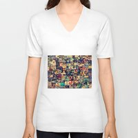 movies V-neck T-shirts featuring I Like Movies by ezop
