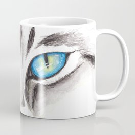 Blue Cat Eyes Coffee Mug