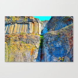 Beautiful Rock Structure Canvas Print