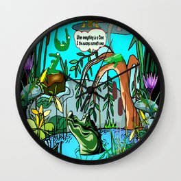 When Everything Is A Croc & The Swamp Runneth Over Wall Clock