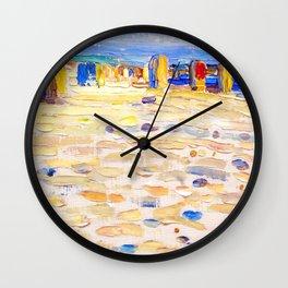Wassily Kandinsky - Holland Beach Chairs Wall Clock